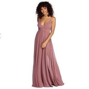 Mauve Long Prom Dress!